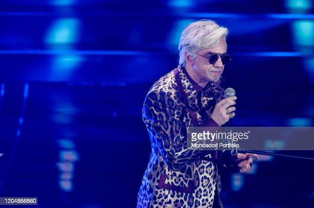 Morgan at the fourth evening of the 70 Sanremo Music Festival The singer paired with Bugo is disqualified Sanremo February 7th 2020