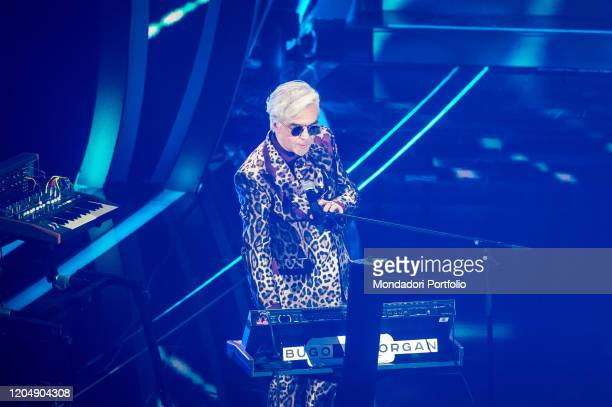Morgan at the fourth evening of the 70th Sanremo Music Festival The singer paired with Bugo is disqualified on February 07 2020 in Sanremo Italy