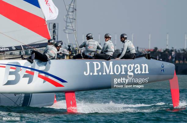 P Morgan BAR of United Kingdom competes during Day 4 of the Extreme Sailing Series Act 3 on 4 May 2014 in Qingdao China