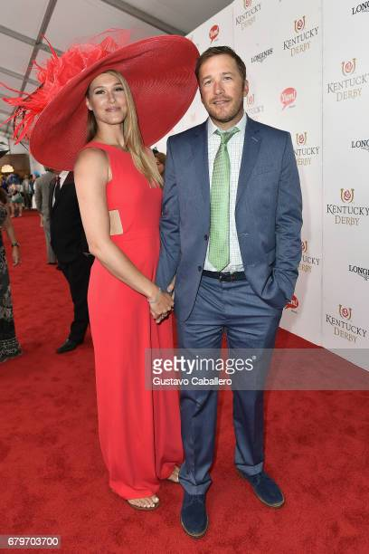 Morgan Beck and Bode Miller attend the 143rd Kentucky Derby at Churchill Downs on May 6 2017 in Louisville Kentucky