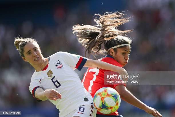 Morgan Brian of USA and Javier Toro of Chile during the 2019 FIFA Women's World Cup France group F match between USA and Chile at Parc des Princes on...