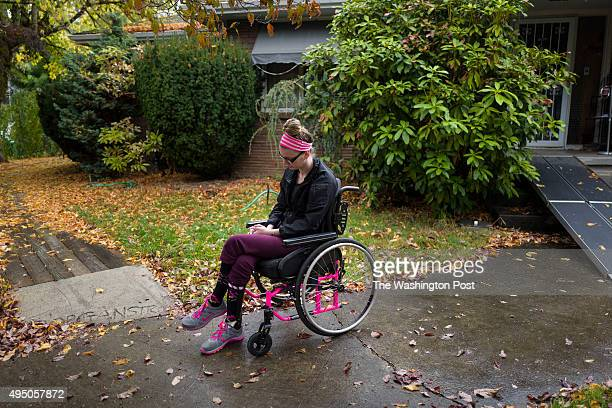 Morgan Brittain sits outside her grandparents home where she is recovering from an heroin overdose in Milwaukie Oregon on Wednesday October 7 2015