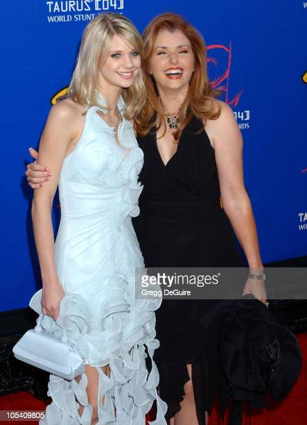 Morgan Brittany and daughter Katie during 4th Annual Taurus World Stunt Awards - Arrivals at Paramount Studios in Los Angeles, California, United...