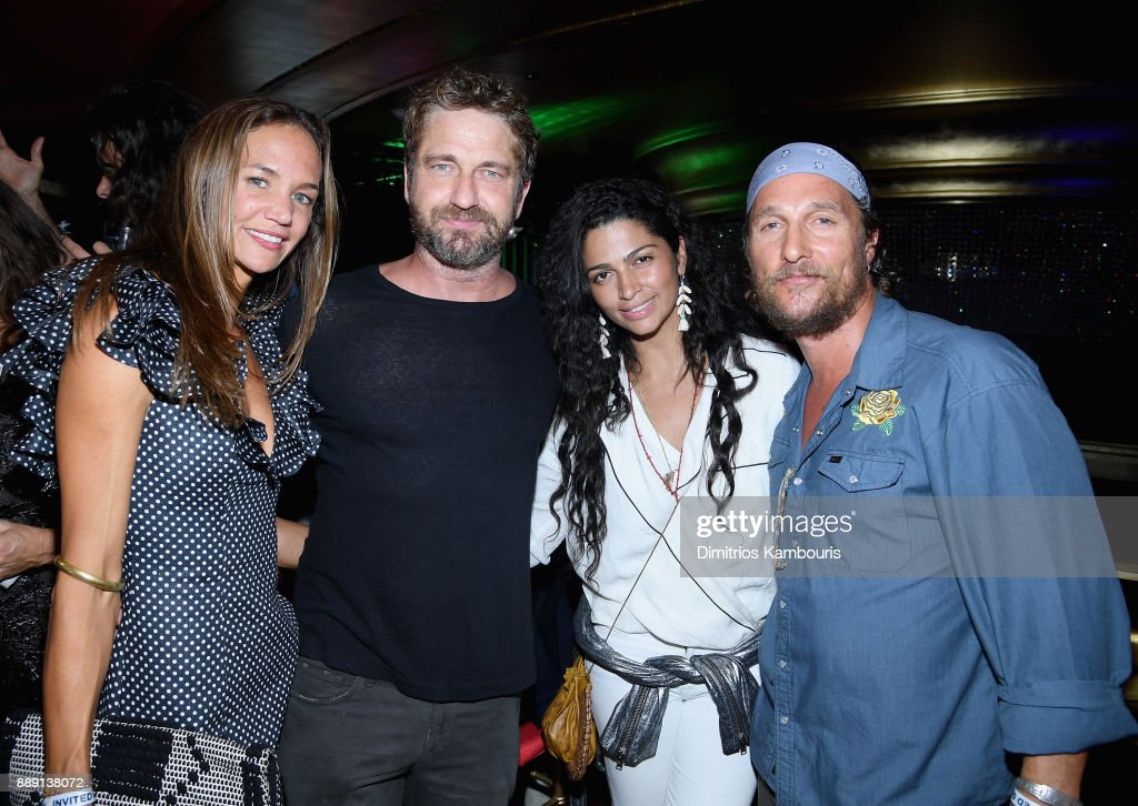 Morgan Brown, Gerard Butler, Camila Alves and Matthew Mcconaughey attend the Duran Duran live performance for SiriusXM at the Faena Theater in Miami Beach during Art Basel on December 9, 2017 in Miami Beach, Florida.