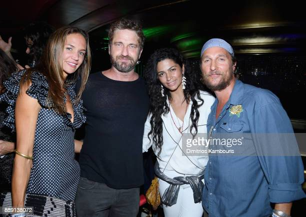 Morgan Brown Gerard Butler Camila Alves and Matthew Mcconaughey attend the Duran Duran live performance for SiriusXM at the Faena Theater in Miami...
