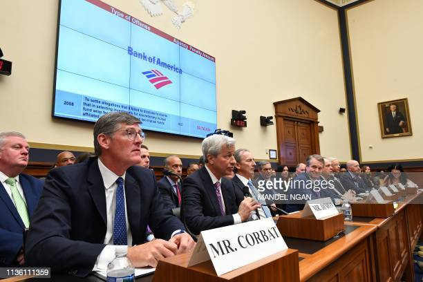 JP Morgan Chase Co Chairman Chief Executive Officer Jamie Dimon testifies before the House Financial Services Committee on accountability for mega...