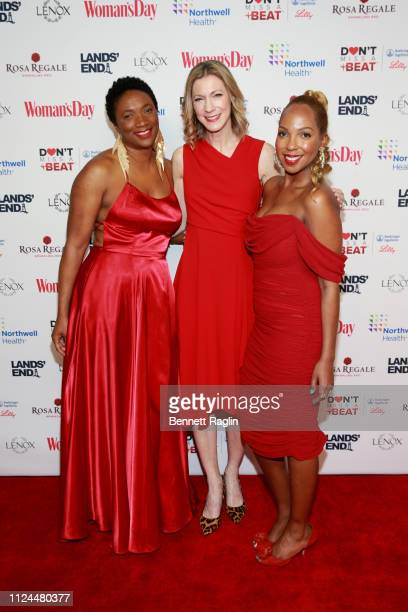 T Morgan Dixon Susan Spencer and Vanessa Garrison attend Woman's Day Celebrates 16th Annual Red Dress Awards on February 12 2019 in New York City