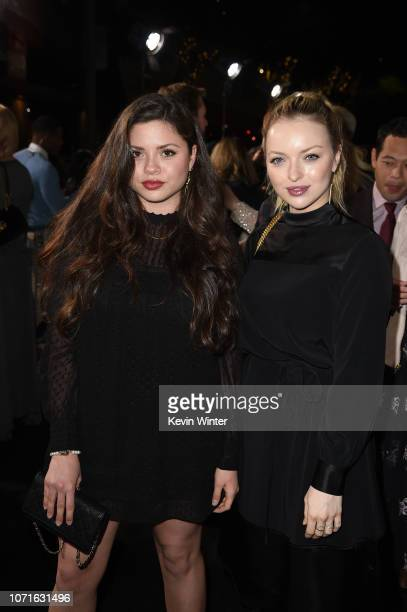Morgan Eastwood and Francesca FisherEastwood arrive at the premiere of Warner Bros Pictures' The Mule at the Village Theatre on December 10 2018 in...
