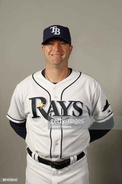 Morgan Ensberg of the Tampa Bay Rays poses during Photo Day on Friday, February 20, 2009 at Charlotte County Sports Park in Port Charlotte, Florida.