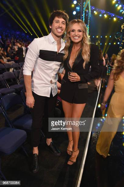 Morgan Evans and Carly Pearce attend 2018 CMT Music Awards at Bridgestone Arena on June 6 2018 in Nashville Tennessee