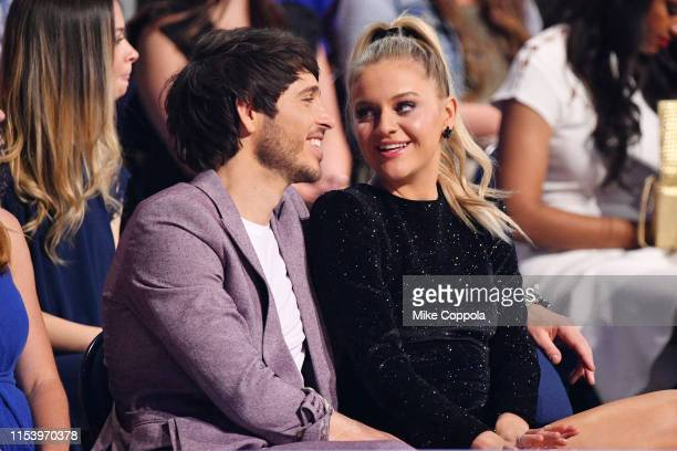 Morgan Evans and Kelsea Ballerini attend at the 2019 CMT Music Awards at Bridgestone Arena on June 05 2019 in Nashville Tennessee