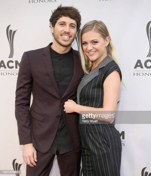 Morgan Evans and Kelsea Ballerini attend the 12th Annual ACM Honors at Ryman Auditorium on August 22 2018 in Nashville Tennessee