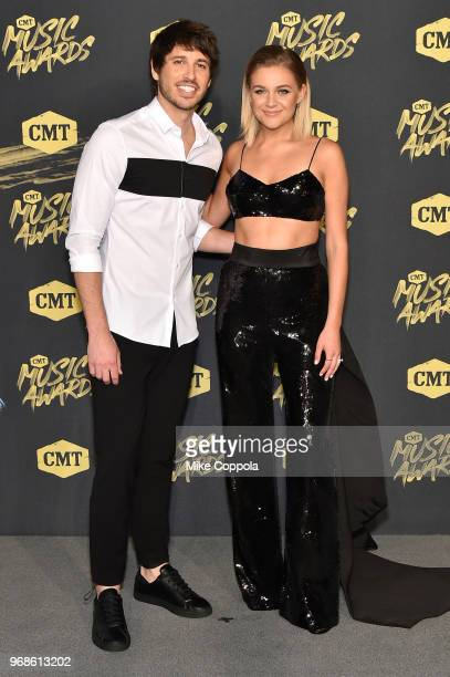 Morgan Evans and Kelsea Ballerini attend the 2018 CMT Music Awards at Bridgestone Arena on June 6 2018 in Nashville Tennessee