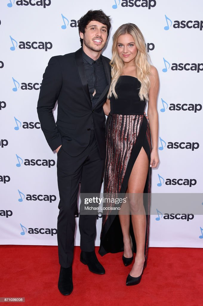 Morgan Evans and Kelsea Ballerini attend the 55th annual ASCAP Country Music awards at the Ryman Auditorium on November 6, 2017 in Nashville, Tennessee.