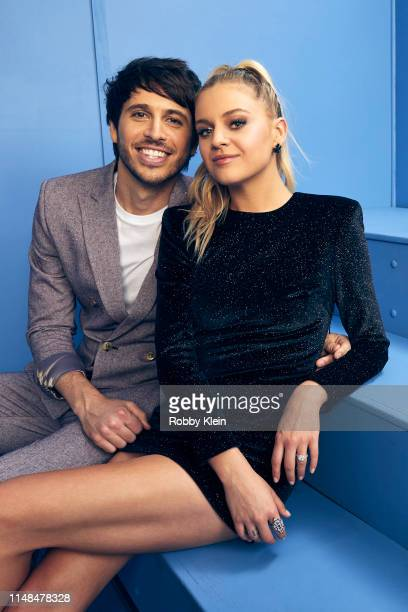 Morgan Evans and Kelsea Ballerini pose for a portrait during the 2019 CMT Music Awards at Bridgestone Arena on June 5 2019 in Nashville Tennessee