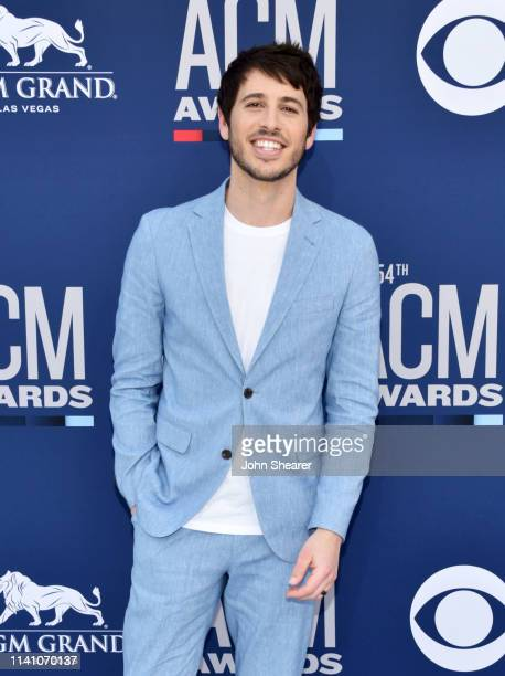 Morgan Evans attends the 54th Academy Of Country Music Awards at MGM Grand Hotel Casino on April 07 2019 in Las Vegas Nevada