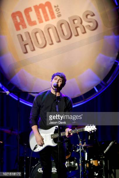 Morgan Evans performs onstage during the 12th Annual ACM Honors at Ryman Auditorium on August 22 2018 in Nashville Tennessee