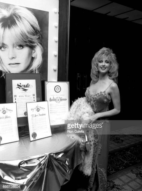 Morgan Fairchild attends Tel Aviv Foundation Gala Honoring Goldie Hawn on January 27 1987 at the Century Plaza Hotel in Century City California