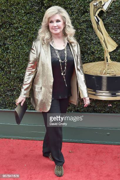 Morgan Fairchild attends the 2018 Daytime Emmy Awards Arrivals at Pasadena Civic Auditorium on April 29 2018 in Pasadena California