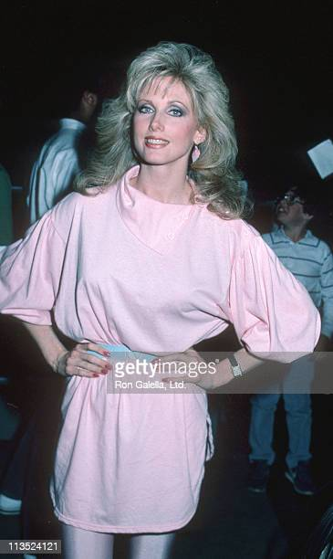 Morgan Fairchild during Beverly Hills High School Celebrity Basketball Game March 17 1984 at Beverly Hills High School in Beverly Hills California...