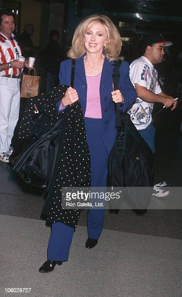 Morgan Fairchild during Morgan Fairchild Sighting at Los Angeles International Airport March 24 1998 at Los Angeles International Airport in Los...
