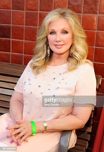 Morgan Fairchild hosts the Whiskers In The Moonlight Benefit Concert For FixNation on July 25 2015 in Los Angeles California