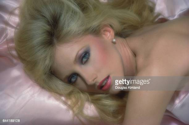 Morgan Fairchild on Pink Pillow