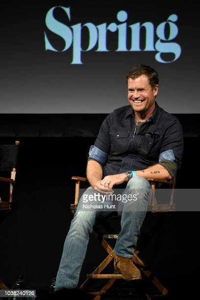 Morgan Fallon speaks onstage at the 'Anthony Bourdain Parts Unknown' Season 12 Premiere panel during the 2018 Tribeca TV Festival at Spring Studios...