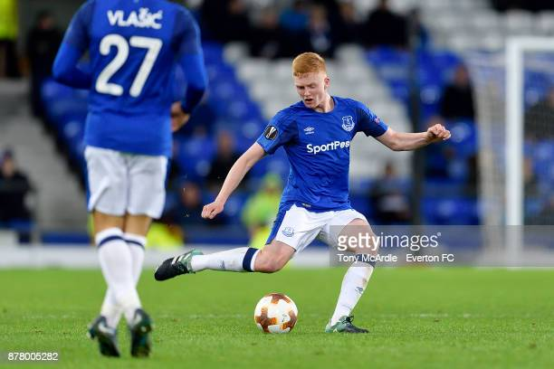 Morgan Feeney of Everton during the UEFA Europa League group E match between Everton and Atalanta at Goodison Park on November 23 2017 in Liverpool...