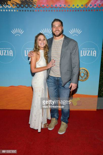 Morgan Fox attends Cirque du Soleil presents the Los Angeles premiere event of 'Luzia' at Dodger Stadium on December 12 2017 in Los Angeles California