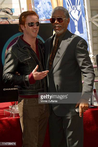 Morgan Freeman and Damian Lewis Morgan Freeman is honored With A Star On The Hollywood Walk Of Fame Hollywood CA 03/18/03