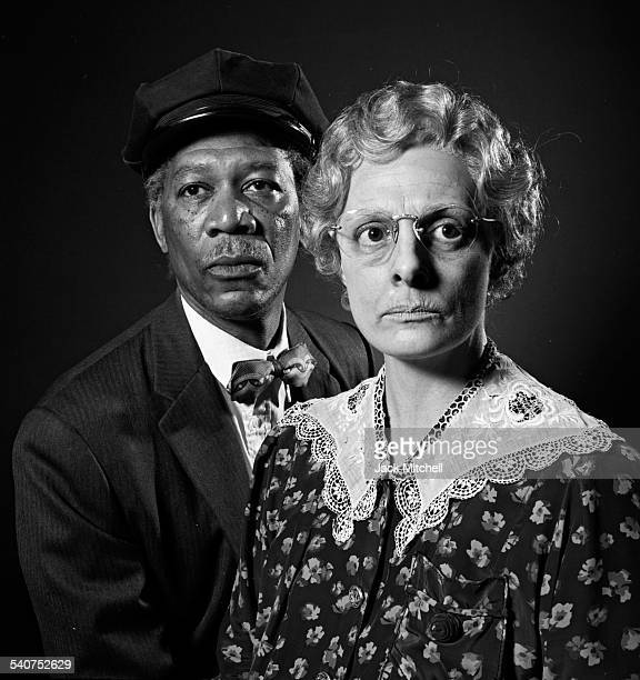Morgan Freeman and Dana Ivey in costume for the hit play Driving Miss Daisy in June 1987