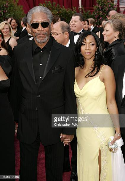 Morgan Freeman and daughter Morgana during The 77th Annual Academy Awards Arrivals at Kodak Theatre in Los Angeles California United States