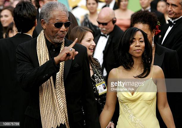 Morgan Freeman and daughter Morgana Freeman during The 77th Annual Academy Awards Arrivals at Kodak Theatre in Los Angeles California United States