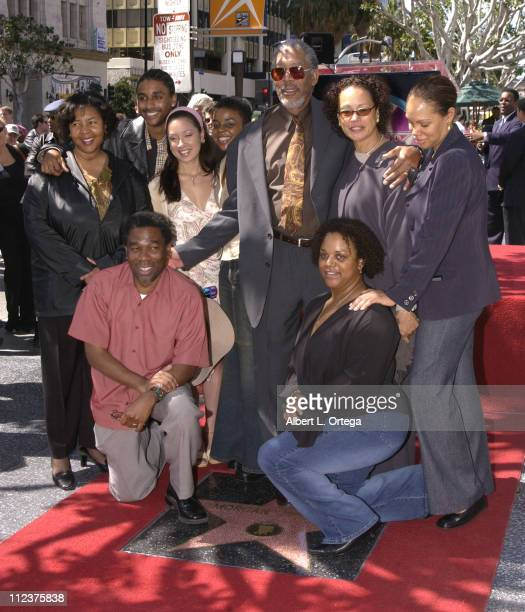 Morgan Freeman and family during Morgan Freeman Honored With A Star On The Hollywood Walk Of Fame at Hollywood Blvd in front of The Galaxy Theater in...