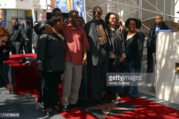 Morgan Freeman and Family He is honored With A Star On The Hollywood Walk Of Fame Hollywood CA 03/18/03