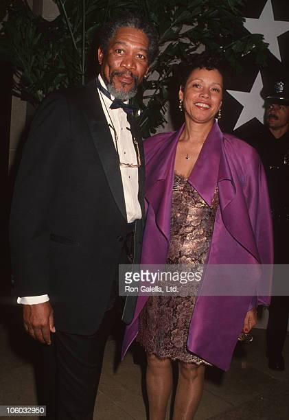 Morgan Freeman and Myrna Freeman during AFI Life Achievement Award Honoring Sidney Poitier at Beverly Hilton Hotel in Beverly Hills, California,...