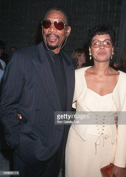 "Morgan Freeman and Myrna Freeman during ""Moll Flanders"" Premiere at Avco Cinema in Westwood, California, United States."