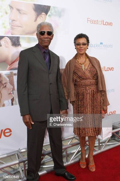 """Morgan Freeman and wife Myrna Colley-Lee at the """"Feast of Love"""" Premiere at The Academy of Motion Picture Arts and Sciences on September 25, 2007 in..."""