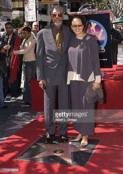 Morgan Freeman and wife Myrna ColleyLee during Morgan Freeman Honored With A Star On The Hollywood Walk Of Fame at Hollywood Blvd in front of The...