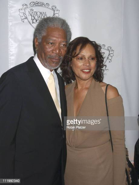 Morgan Freeman and wife Myrna Colley-Lee during The 2003 National Board of Review of Motion Pictures Annual Awards Gala at Tavern on The Green in New...
