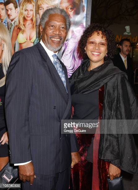 """Morgan Freeman and wife Myrna Colley-Lee during """"The Big Bounce"""" Premiere at Mann Village Theatre in Westwood, California, United States."""