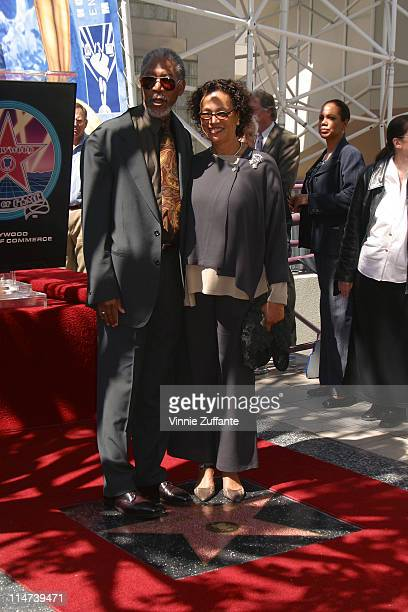 Morgan Freeman and wife Myrna ColleyLee He is honored With A Star On The Hollywood Walk Of Fame Hollywood CA 03/18/03