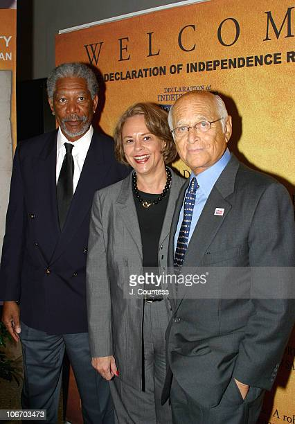 Morgan Freeman Ann Moore Chairman and CEO of Time Inc and Norman Lear
