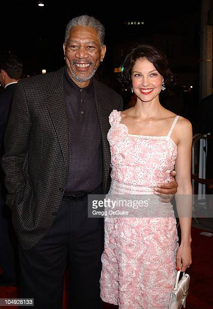 Morgan Freeman Ashley Judd during High Crimes Premiere at Mann Village Theatre in Westwood California United States