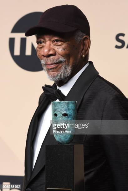 Morgan Freeman attends 24th Annual Screen Actors Guild Awards - Press Room on January 21, 2018 in Los Angeles, California.
