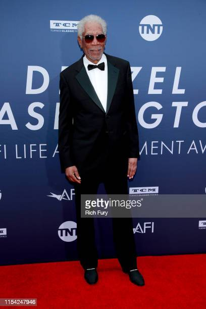 Morgan Freeman attends the 47th AFI Life Achievement Award honoring Denzel Washington at Dolby Theatre on June 06 2019 in Hollywood California