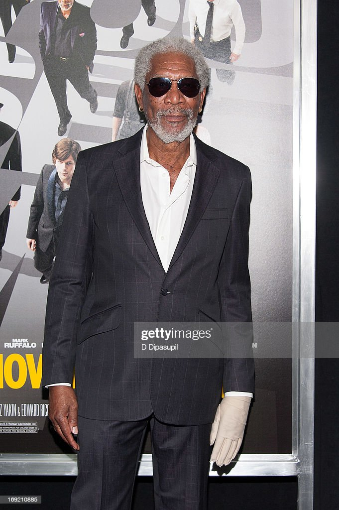 Morgan Freeman attends the 'Now You See Me' premiere at AMC Lincoln Square Theater on May 21, 2013 in New York City.