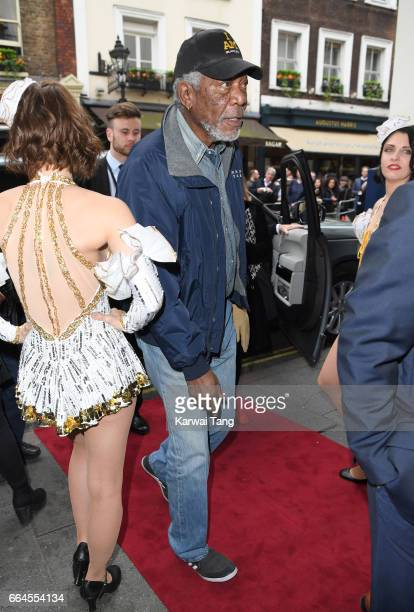 Morgan Freeman attends the opening night of '42nd Street' at Theatre Royal on April 4 2017 in London England The opening night is a fundraising event...