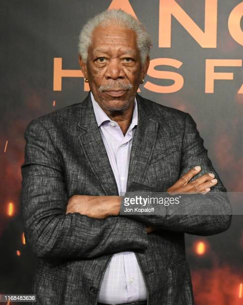 Morgan Freeman attends the Photocall For Lions Gate's Angel Has Fallen at the Beverly Wilshire Four Seasons Hotel on August 16 2019 in Beverly Hills...